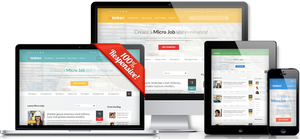 Taskerr Responsive WordPress Micro Job Theme