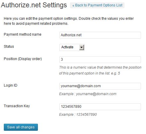 Authorize.net Payment Gateway WP Plugin
