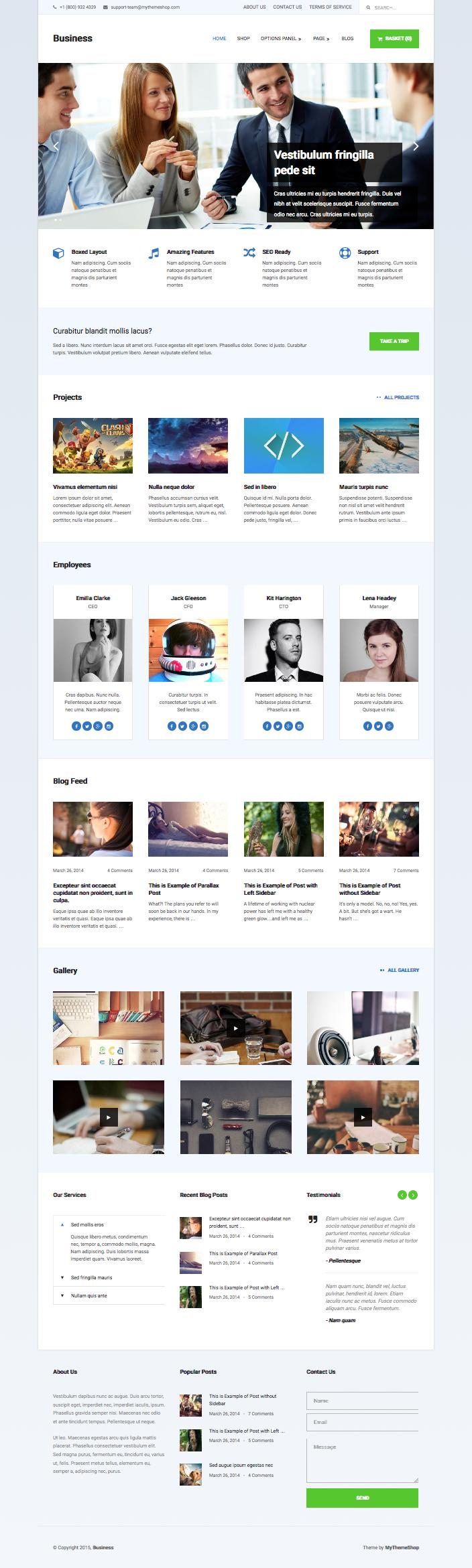Business WordPress Corporate Style Theme