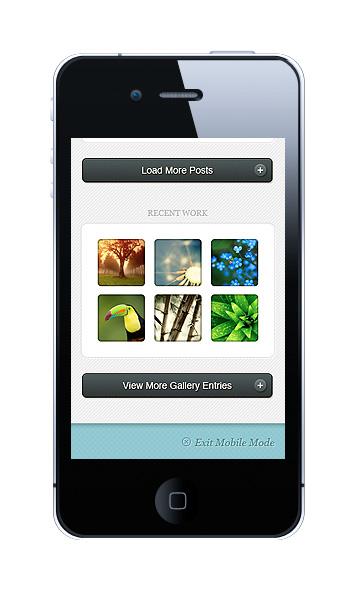 HandHeld WordPress Mobile Gallery Section Plugin