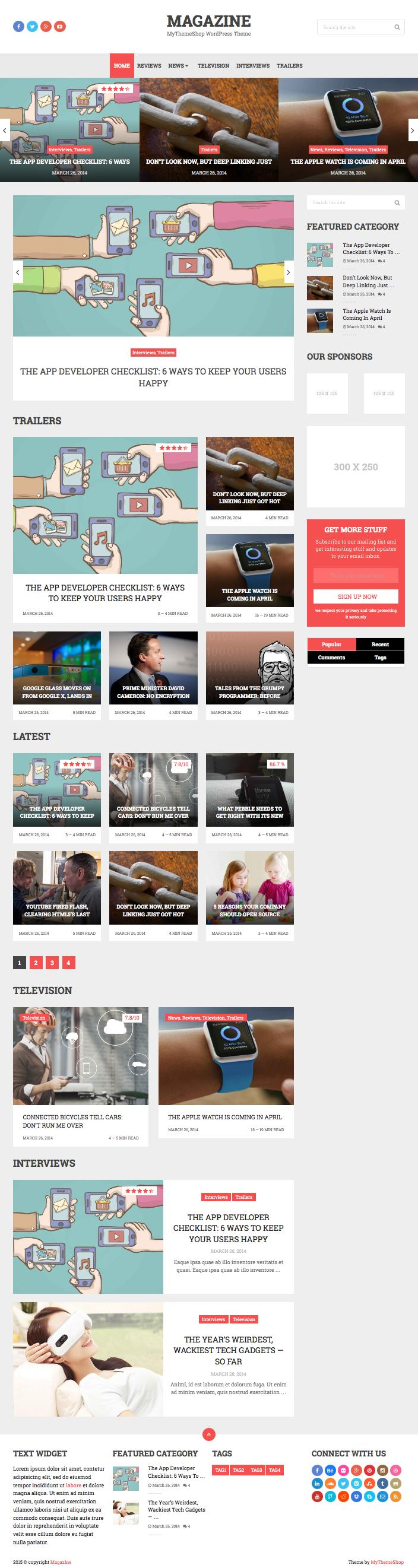 Magazine Responsive WordPress Heavy Content Theme