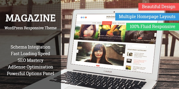 Magazine WordPress Multiple Layouts Theme