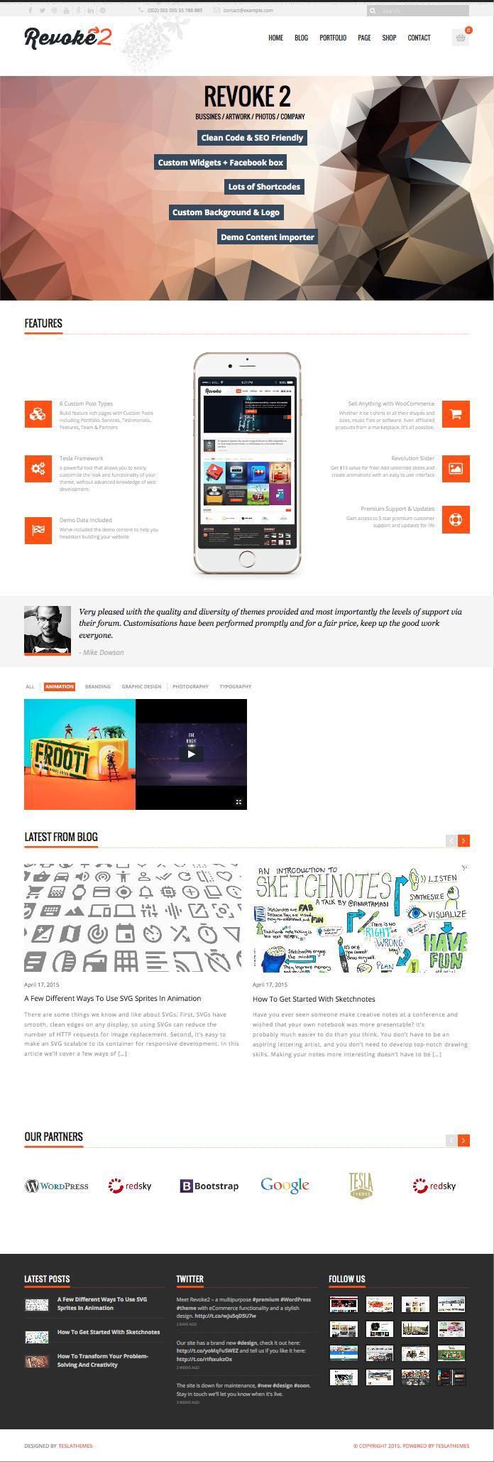 Revoke2 WordPress Business WooCommerce Theme