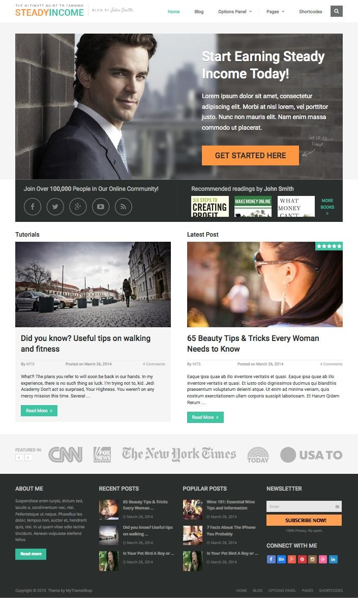 SteadyIncome WordPress Entrepreneurs Theme