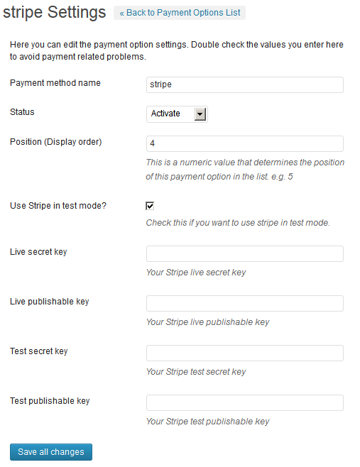 Stripe Payment Gateway WP Plugin