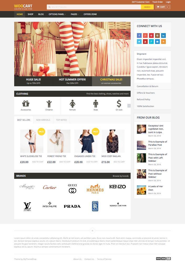 WooCart WordPress Online Shopping Store Theme