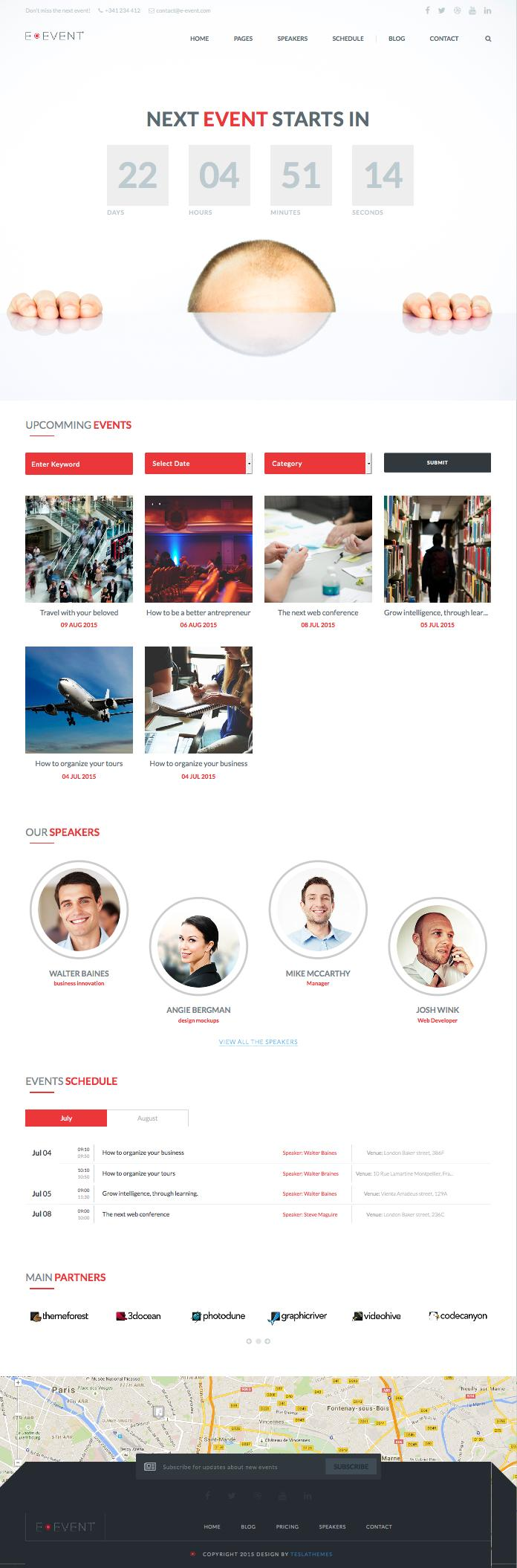 E-event WordPress Events & Meeting Schedules Theme