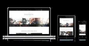 EasyNote Mobile Optimized WordPress Personal Portfolio Theme