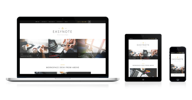 EasyNote Mobile Optimized WordPress Personal Portfolio Theme