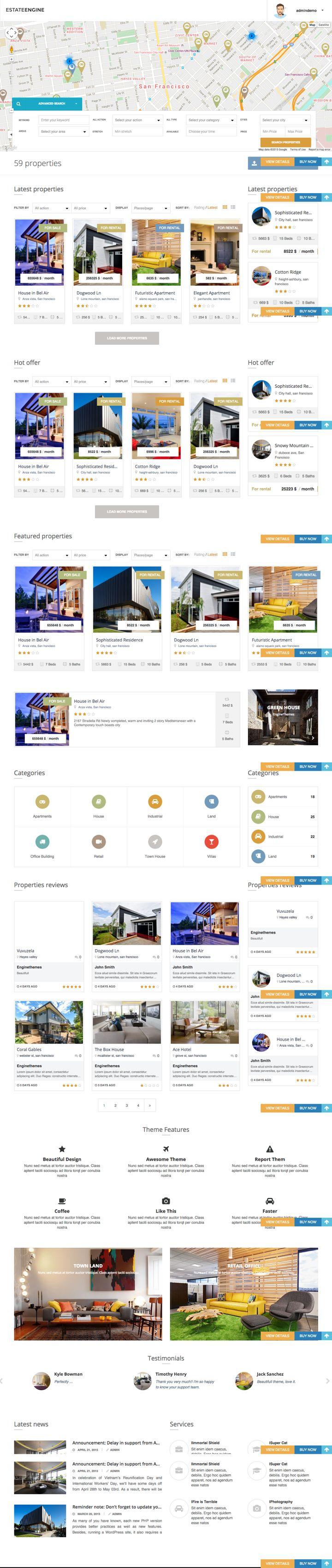 EstateEngine WordPress Property Directory Theme
