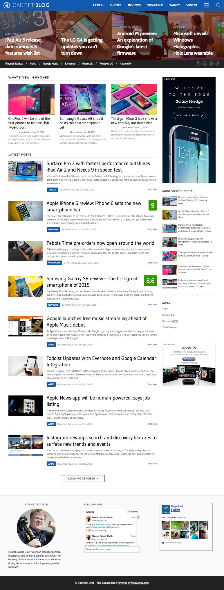 GadgetBlog WordPress Phone or Gadget Reviews Theme