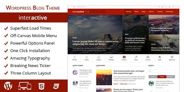 Interactive WordPress Magazine Blog Theme