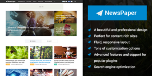 NewsPaper Responsive WordPress Content Rich Theme