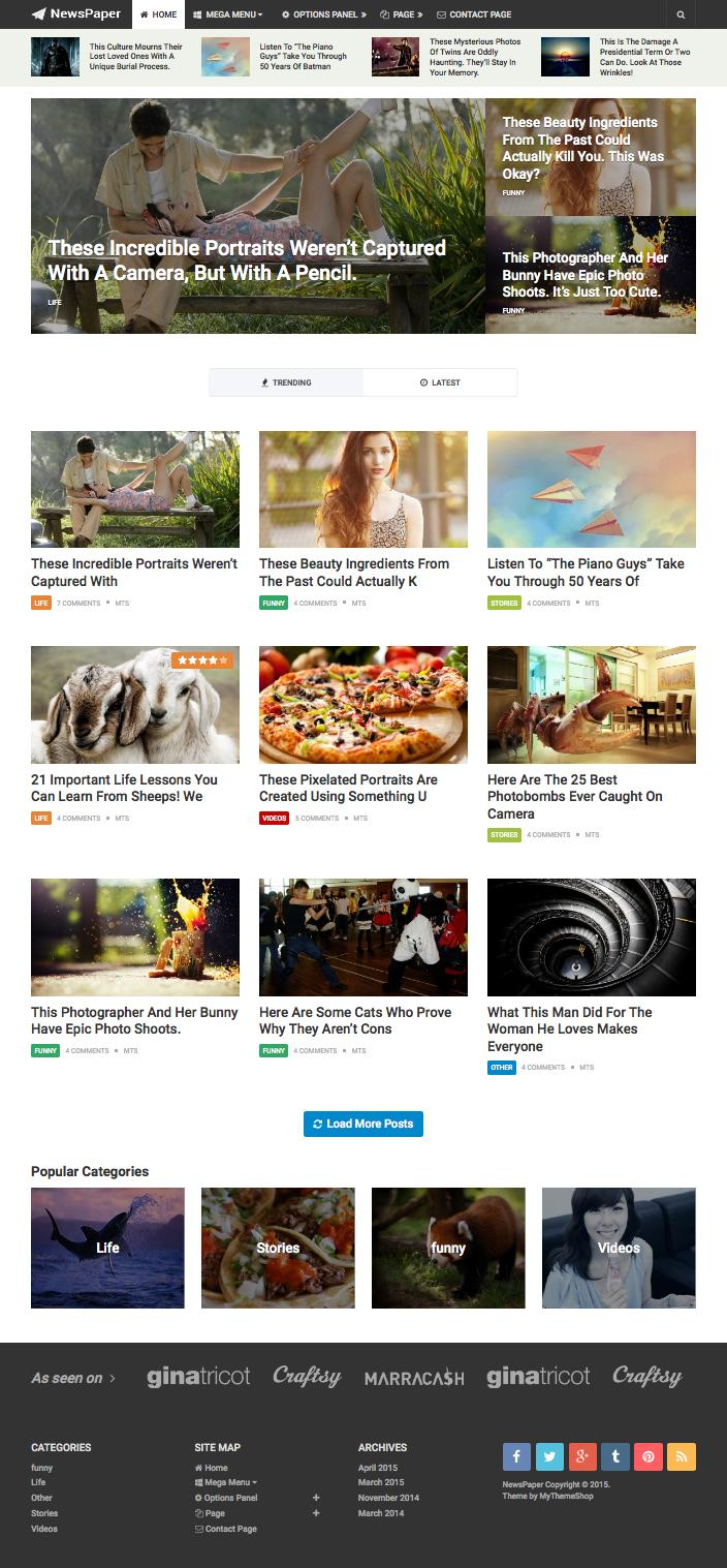 NewsPaper WordPress News Magazine Theme