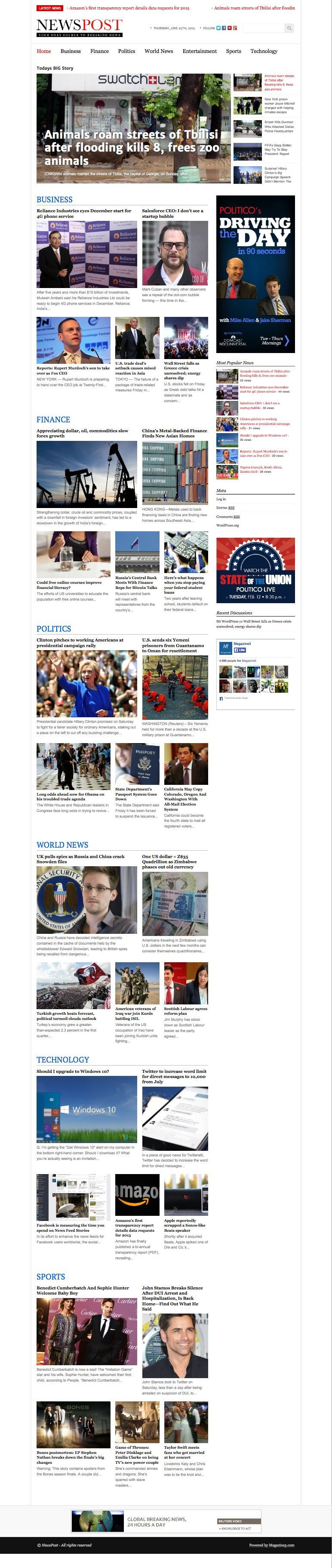 NewsPost WordPress Magazine Newspaper Theme