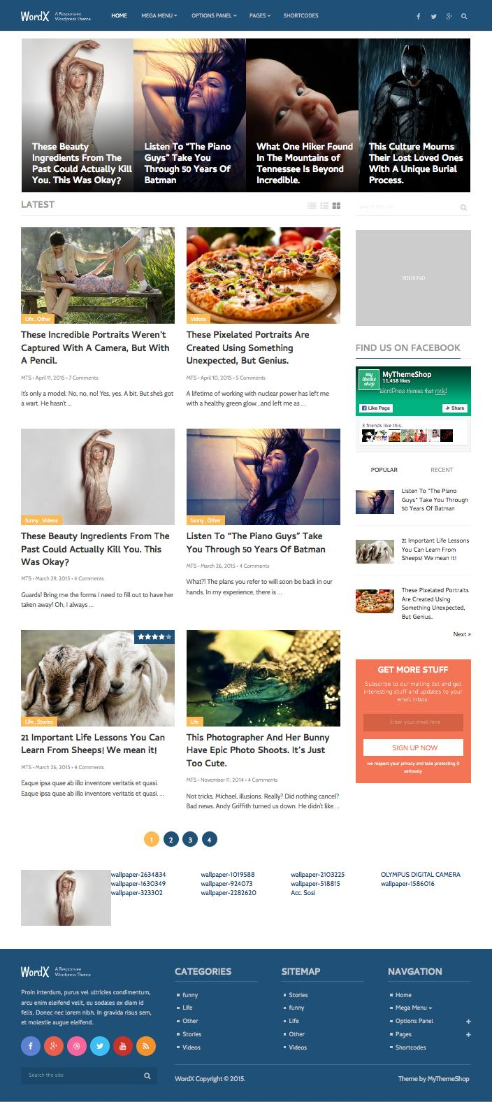 WordX WordPress Blogs & Magazine Theme