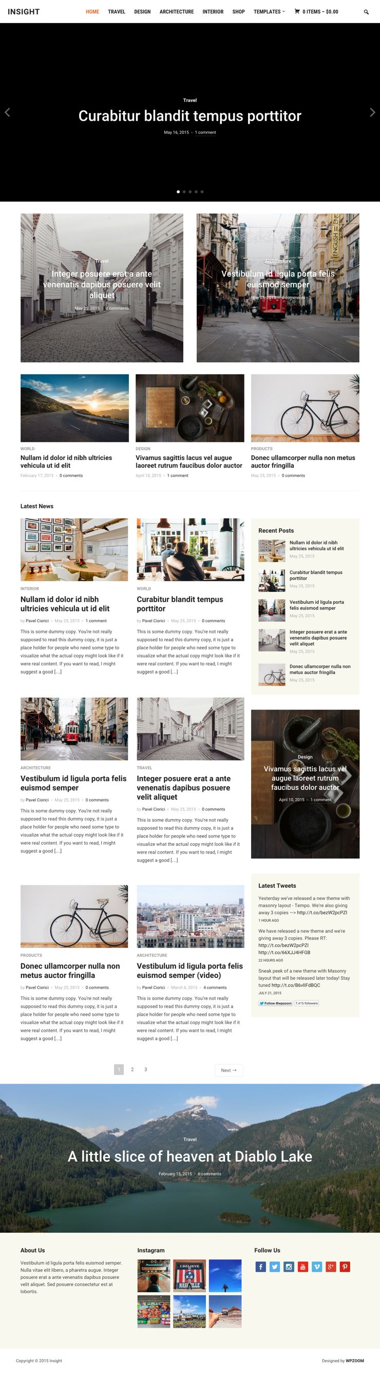 Insight WordPress Photography Magazines Theme