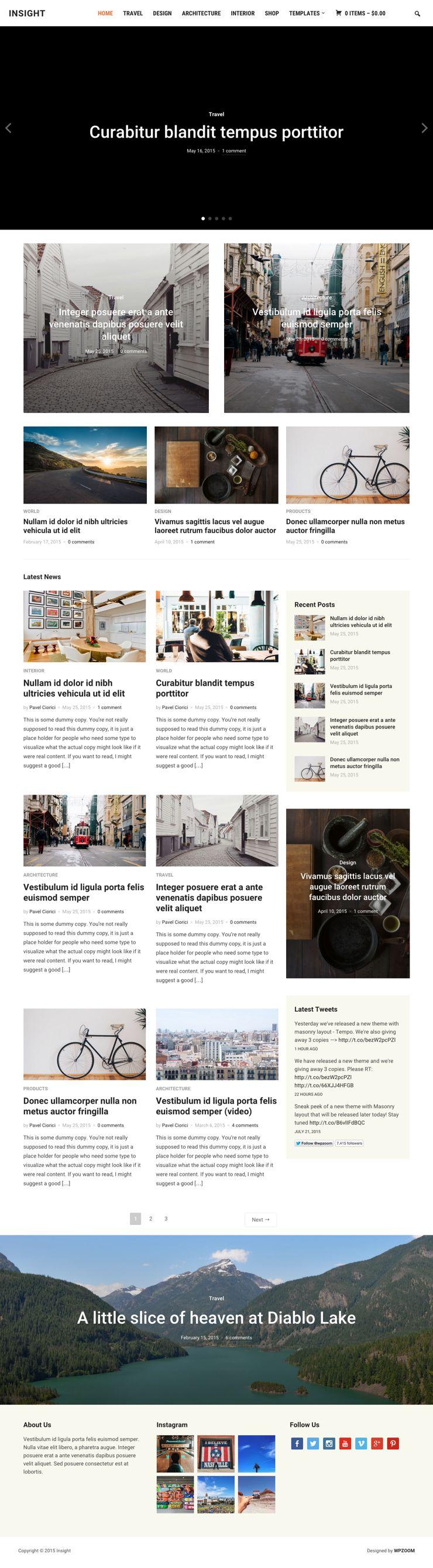 Insight WordPress Photography Magazines Theme