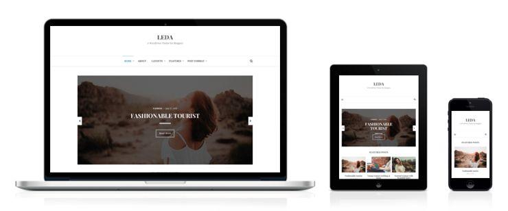 Leda WordPress Minimal Grid Blogging Theme
