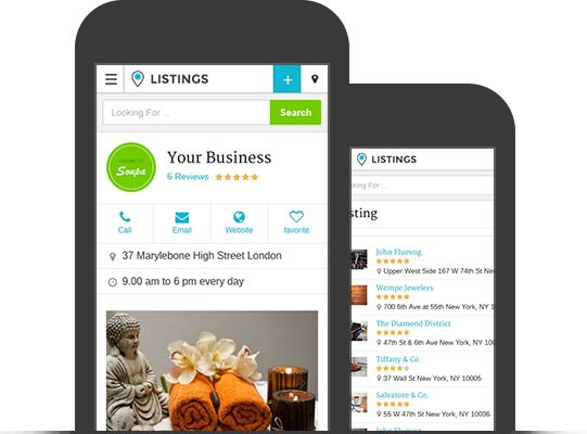 Listings WordPress Responsive Directory Portal Theme