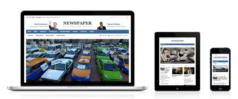 Newspaper 3.0 WordPress Online News Theme