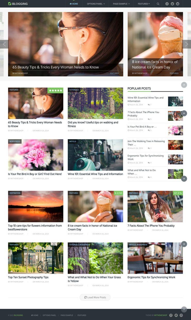 Blogging WordPress HTML5 & CSS3 Markup Theme