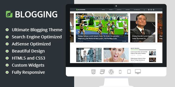 Blogging WordPress Responsive Blogger Theme
