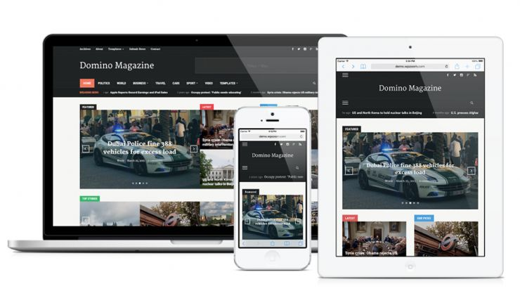 Domino Magazine WordPress Multifunctional Theme