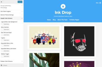 Ink Drop WordPress Theme for Freelance Designers