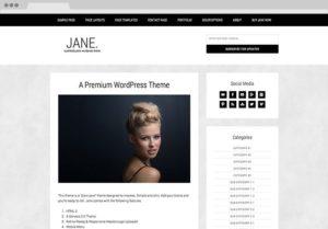 Jane WordPress Chic Photo Blogging Theme