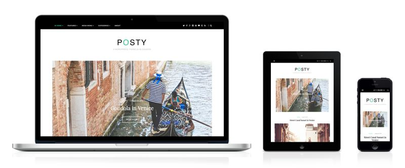 Posty WordPress Food, Health & Travel Blog Theme