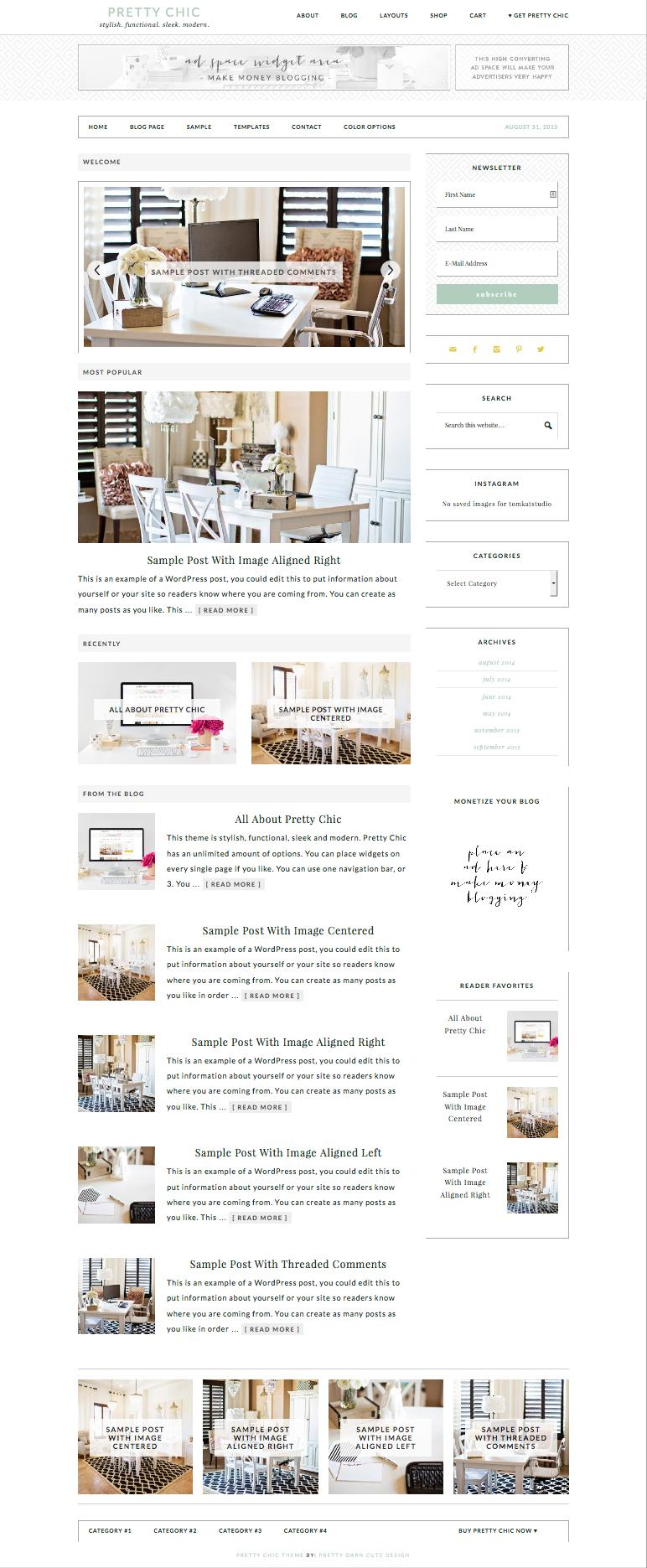 Pretty Chic WordPress Modern eCommerce Theme