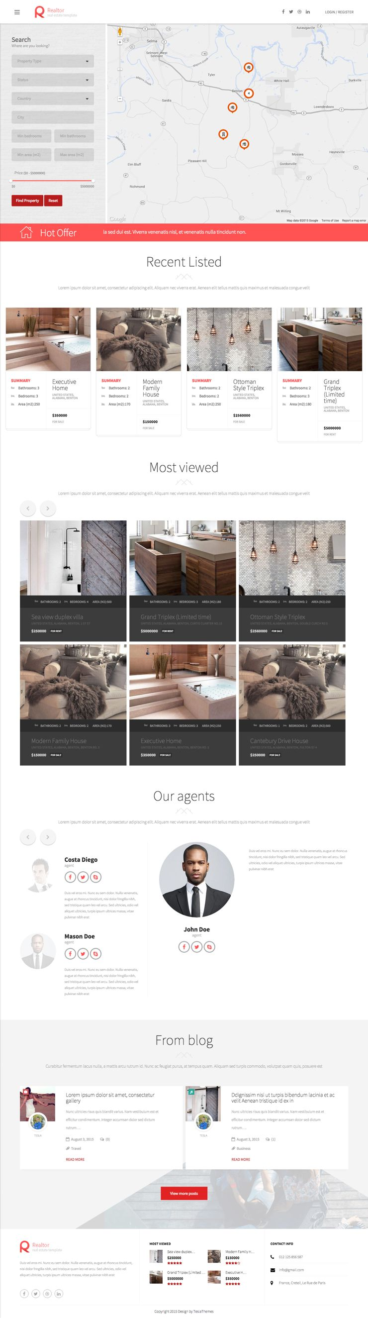 Realtor Real Estate Agents WordPress Theme