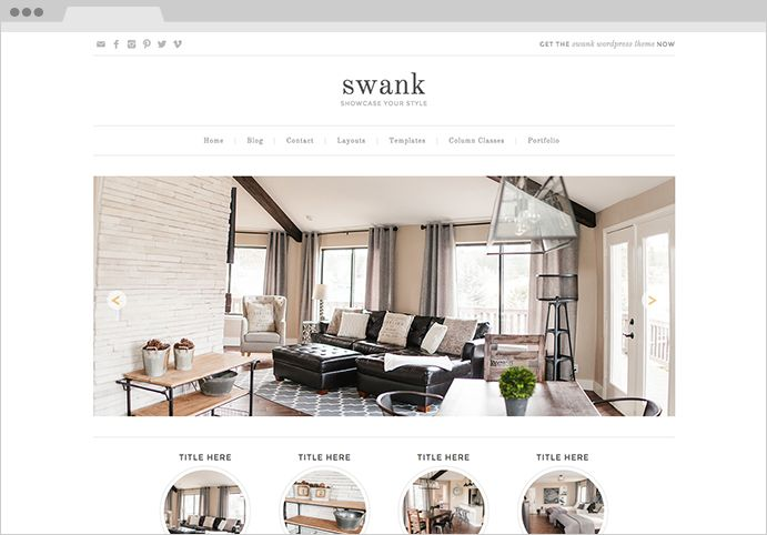 Swank WordPress Genesis Framework Theme