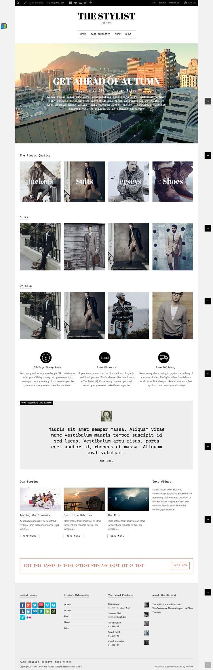 The Stylist WordPress eCommerce Theme