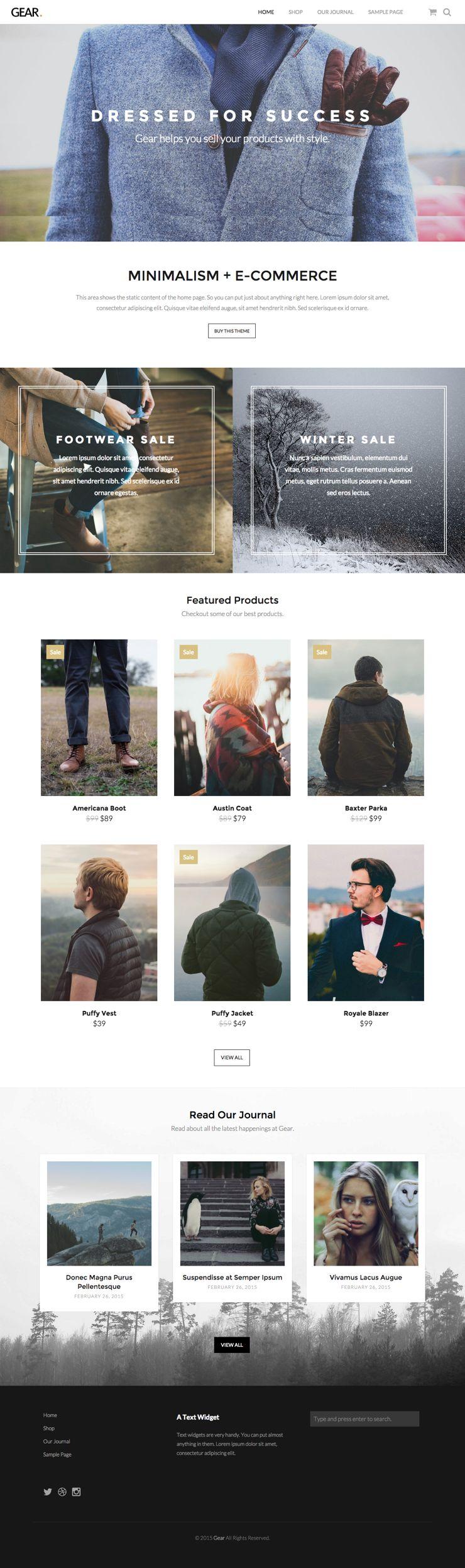 Gear WordPress E-commerce Product Theme