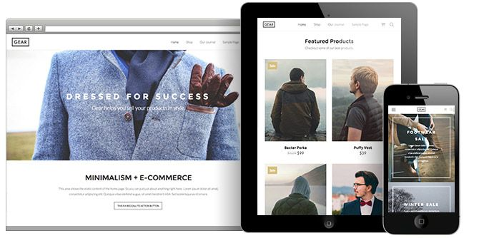 Gear WordPress Minimalistic E-commerce Theme