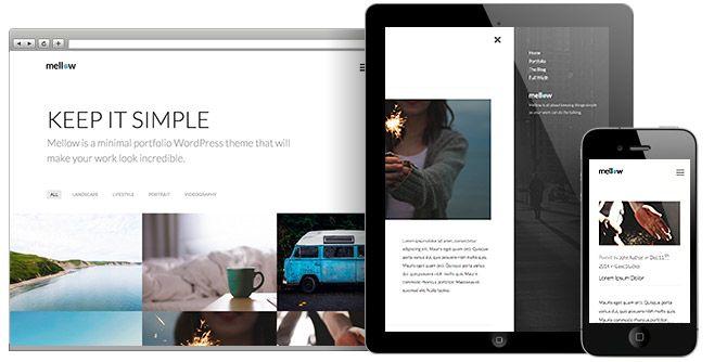 Mellow WordPress Grid Portfolio Layout Theme