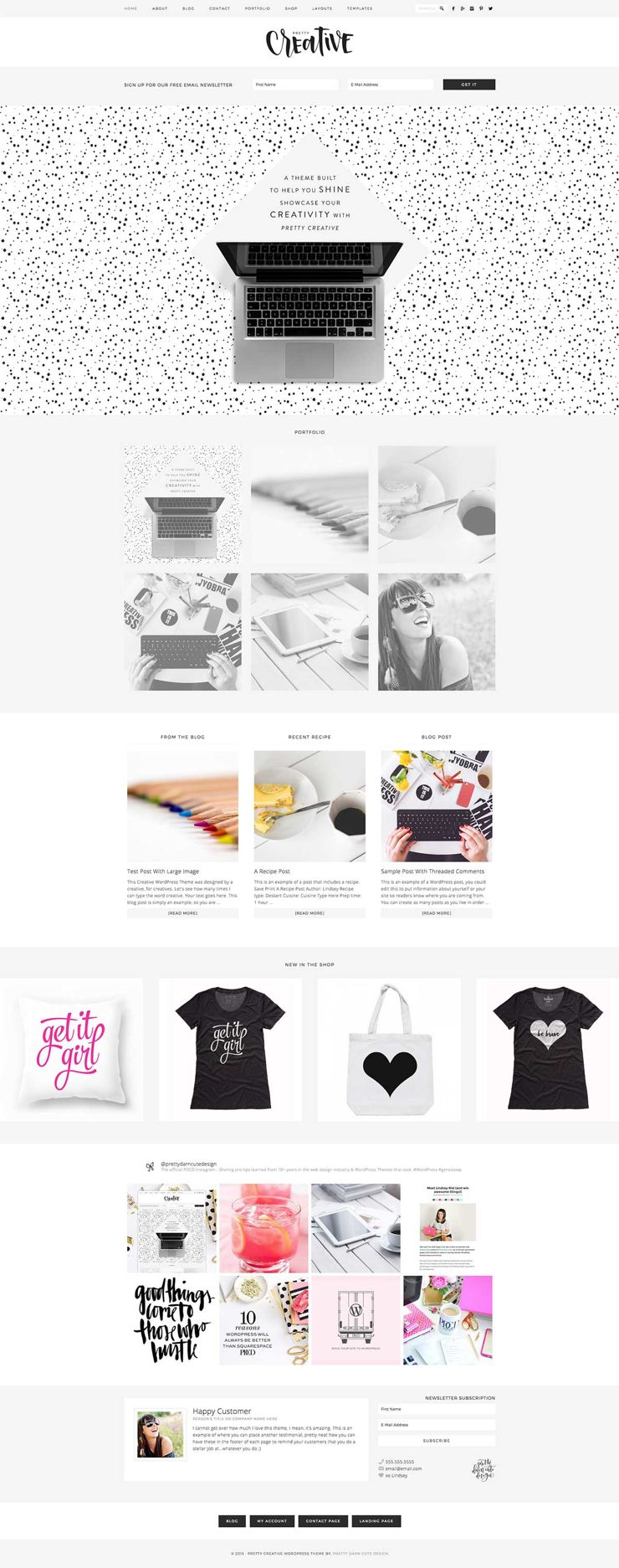 Pretty Creative WordPress eCommerce Theme