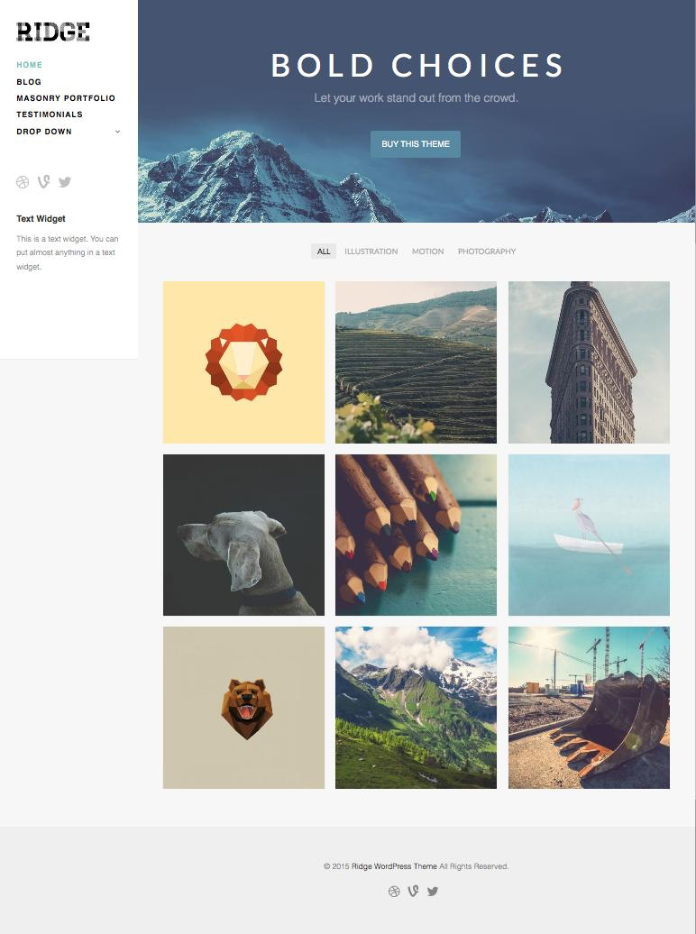 Ridge WordPress Business Portfolio Theme