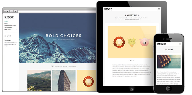Ridge WordPress Masonry Portfolio Theme