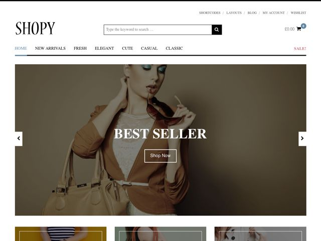 Shopy WordPress WooCommerce Theme