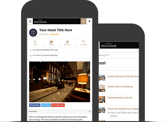 Splendor WordPress Theme for Hotel Directory Listings