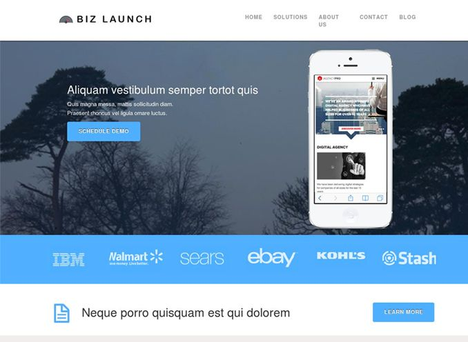 Business Launcher Pro WordPress Product Launching Theme