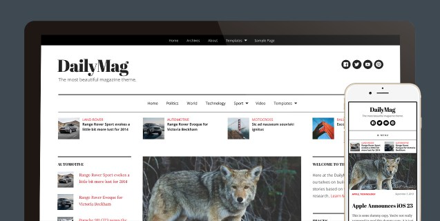 DailyMag WordPress Magazine Theme like CNN, New York Times