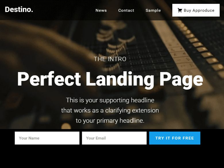 Destino WordPress Landing Page Theme