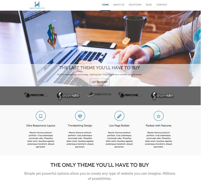 High-End Agency Pro WordPress Businesses Theme
