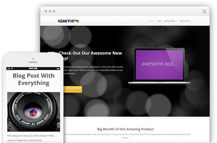 Ignition WordPress App Marketing Page Theme