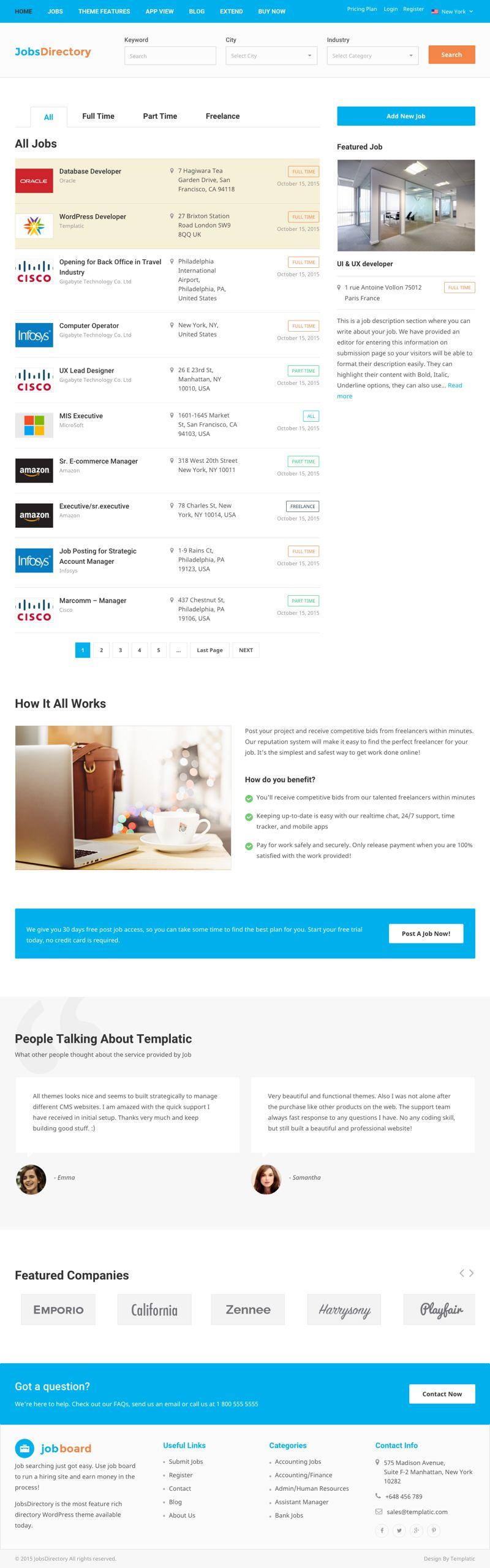 JobsDirectory WordPress Job Jobseekers Portal Theme