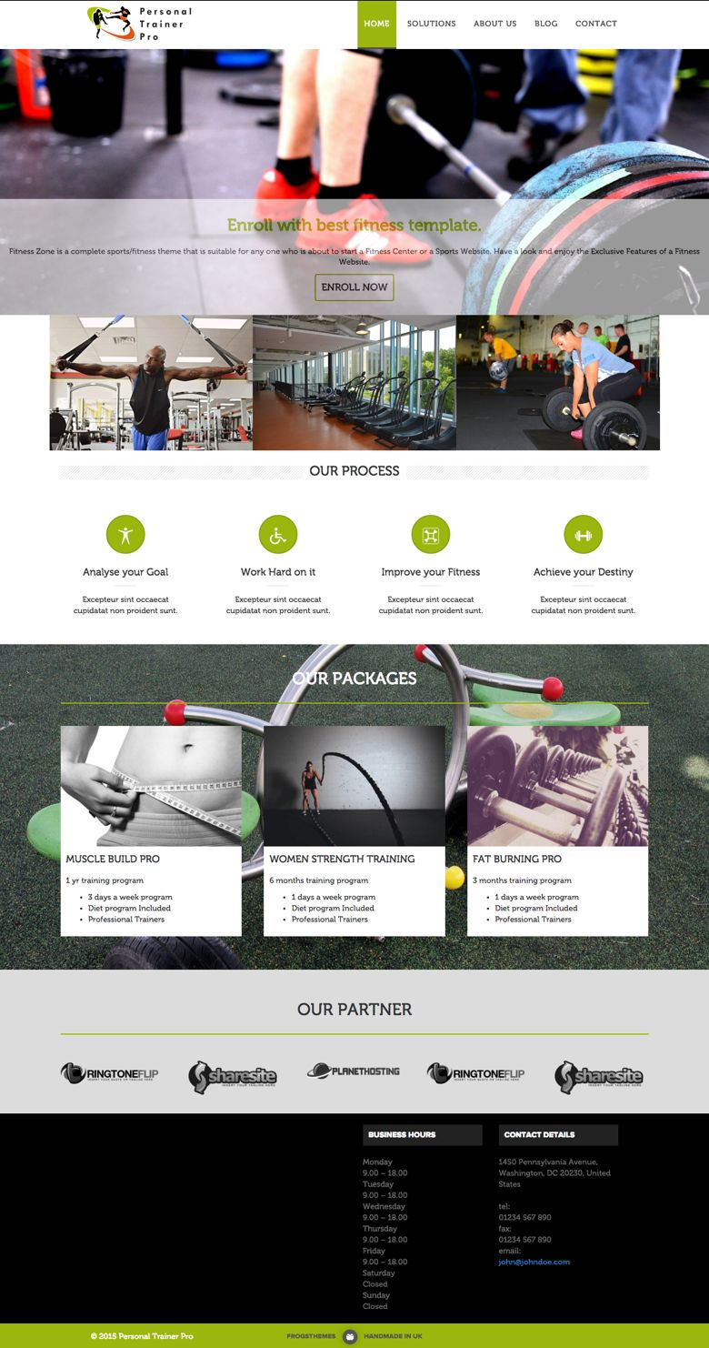 Personal Trainer Pro WordPress Gym & Fitness Theme